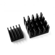 Set of 2 Black Aluminum Heat Sink