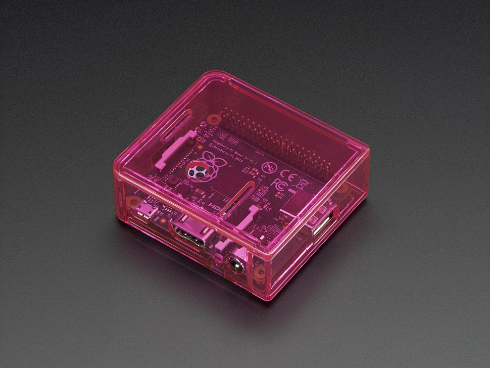 image Cover Case For Pink Raspberry Pi A +