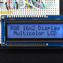 image RGB Backlight Positive Lcd 16X2 + Extras - Black On RGB