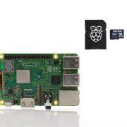 image Raspberry Pi Model B 3 plus sd card
