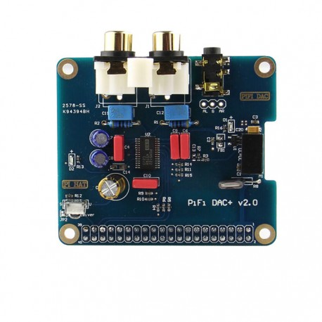 Audio card stereo I2S DAC port for Raspberry Pi